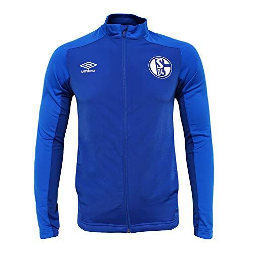 Umbro Kinder Fußball FC Schalke 04 S04 Polyester Jacke Knit Trainingsjacke blau Gr YS