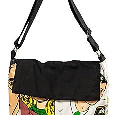 Bolso negro franela: Amazon.es: Handmade
