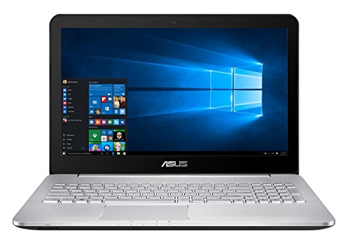 Asus N552VX-FY026T 39,6 cm (15,6 Zoll mattes FHD) Laptop (Intel Core i7-6700HQ, 16GB RAM, 256GB SSD, Nvidia GTX 950M 2GB, DVD, Win 10 Home) silber -