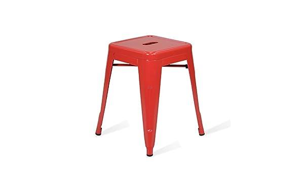 Santani mobili sgabello basso tolix style rosso ispirazione