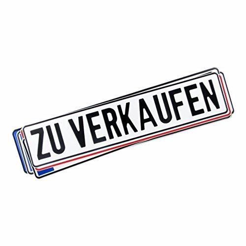 Original KFZ-Kennzeichen, beschriftet mit Hochleistungsfolie, ZU VERKAUFEN in schwarz 0251