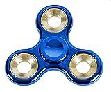 Blau gold metallic Fidget Spinner   Versandkostenfrei per DHL   Deutsche Qualitätsprüfung   Spaß und Stressabbau- Trend bei Kindern und Erwachsenen   Hand Spinner Finger Spielzeug als Geschenk