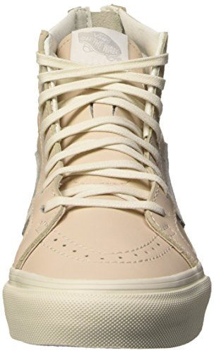 Vans Sk8-Hi Slim Zip, Sneakers Hautes Mixte Adulte Rose (Leather/Whispering Pink/Blanc de Blanc)