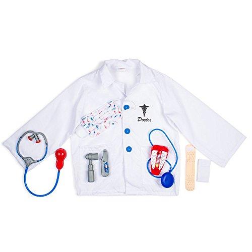 Dress Up America 704 - Arzt-Rollenspielkostüm, 3-7 Jahre, Einheitsgröße, (Zubehör Chirurg Kit)