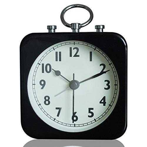 WCXA Reloj Despertador de Mesa de Metal Cuadrado Retro de 3,5 ...