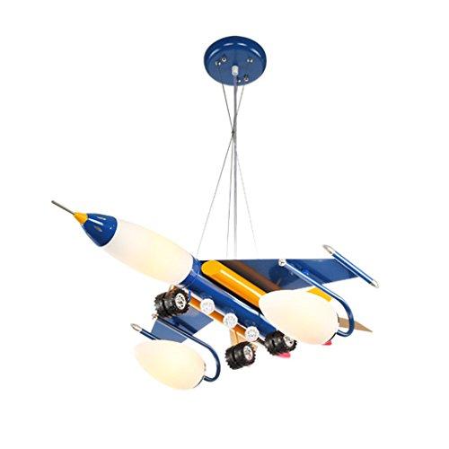 Guo Kinderzimmer-Lichter Jungen-Raum-Flugzeug-Lichter Kronleuchter-Pers5onlichkeit-kreative Karikatur-Beleuchtungs-Lampen E14 Lampen-Hafen