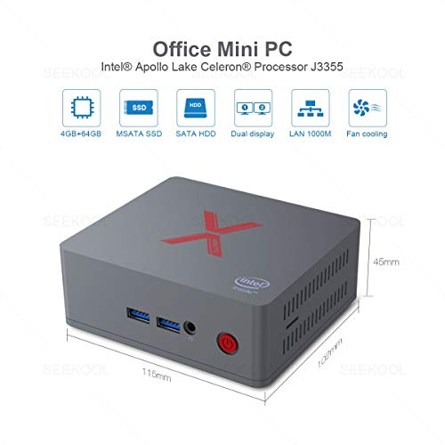Beelink BT3 X Mini PC Windows 10 Intel Celeron J3355 Processor LPDDR4 4GB Ram 64GB Rom 1000Mbps LAN 4K HD MINI Computer Fan Cooling con 5.8G+2.4G