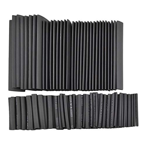 127pcs Gaine thermorétractable Tube fil Isolation Sleeving Kit voiture électrique Shrinkable câble Wrap Set Assortiment Polyoléfine