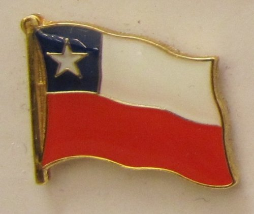 Chile Pin Anstecker Flagge Fahne Nationalflagge Flaggenpin Badge Button Flaggen Clip Anstecknadel -