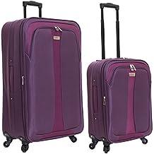 Slimbridge Andalucia juego de 2 maletas extensibles, Púrpura