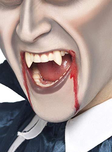 Smiffy's - Denti Canini Vampiro per Halloween, Bianco