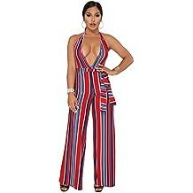 5618bb3fc6a58 emmarcon Sexy Tuta Elegante Pantaloni Lunghi Scollo a V Profondo Vestito  Abito Cerimonia da Donna