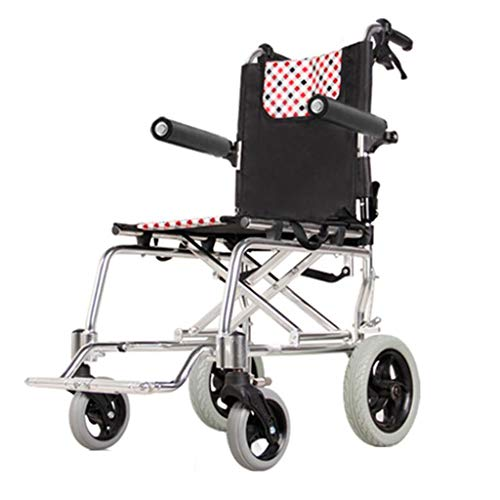 50 - Sillas de ruedas Plegable Carretilla para Personas Mayores Ultraligero Aeronave portátil Mejor Regalo Puede soportar 100 kg