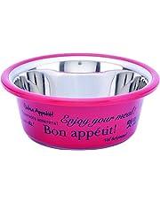 Choostix Dog and Cat Elite Standard Feeding Steel Bowl, Pink, Small, 295 ml
