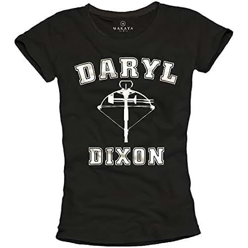 dia del orgullo friki Camiseta negra mujer - Daryl Dixon