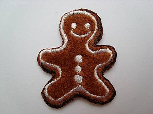 alles-meine.de GmbH Pfefferkuchen 3 cm * 3,9 cm Bügelbild Lebkuchen Süßigkeit Weihnachten Aufnäher Applikation -