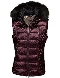 Pikeur–Chaleco de plumas para mujer con capucha desmontable raffaela Premium Colección Otoño/Invierno 2017/2018, unisex, morado