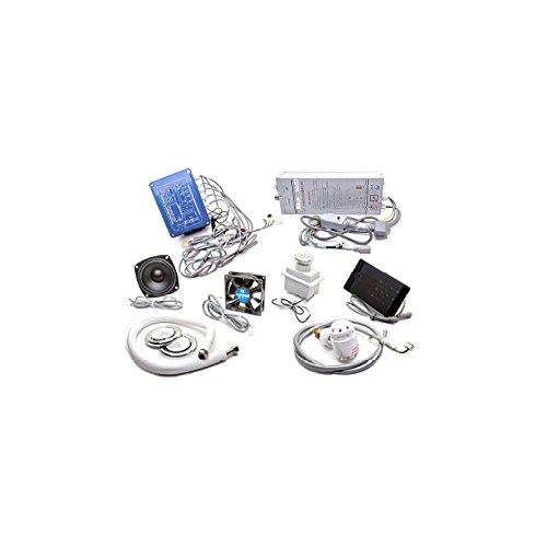 Kit hammam kleines Stromerzeuger Dampf 2,8kw LCD-Anzeige mit Zubehör (Lcd-2-steckdose)