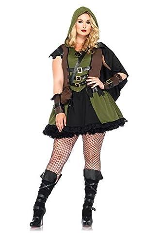 Leg Avenue 85281X - Darling Robin Hood Kostüm Set, 3-teilig, Größe 44-46, jägergrün (2016 Plus Size Kostüme)