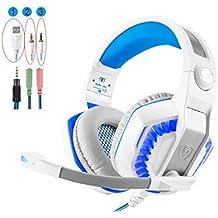 Gaming Headset, Collee GM-23.5mm Over-Ear Auriculares Gaming con luz LED/auriculares con control de volumen micrófono para PC, Xbox One ¹, PS4, Wii U, teléfonos móviles