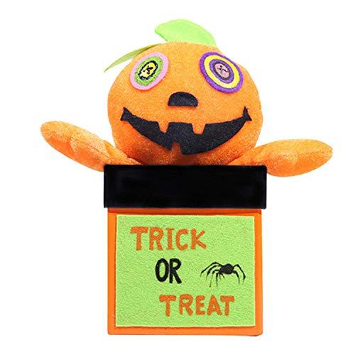 Uhwwdjhke Süße Süßigkeiten Cookie Geschenk Snacks Requisiten Box Jar mit Kürbis Puppe für Kinder Kinder Halloween Festival Kostüm Party Geburtstag Urlaub
