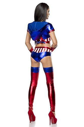 Sexy Miss America Kostüm Damen Karneval Fasching XS-M (Miss America Kostüm)