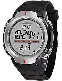 LJS-BQ Reloj Deportivo, Reloj Multifuncional Resistente Al Agua para Alpinismo Al Aire Libre