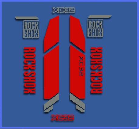 5 Zoll Vinyl Decal (Ecoshirt SK-P18Z-H5PD Aufkleber Rock Shox Xc32 Dr1108 Vinyl Adesivi Decal Aufkleber 2/3/5