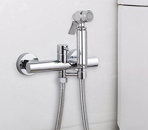 GFEI chasse d'eau froide et d'eau chaude qui mélange dispositif soupape toilette bidet pistolet cuivre costume / gynecological chasse d'eau de robinet,c