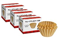 # 22195 three box [1-2 person] Brown 50 pieces × Kalita Wave series Wave Filter 155