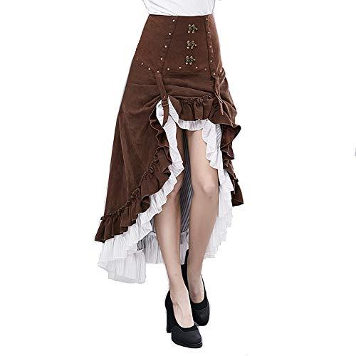 Kostüm Mit Frauen Tutus - HHH Steampunk Victoria Gothic Punk Vampir Show Mädchen Kleid, Damenrock Schwarzer Spitze, Partykleid Steampunk Kostüm, Frauen Gothic Steampunk Vintage Kleid, (Size : S)