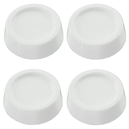 R reliapart Universal-Anti-Rutsch-Gummifüße für Trockner/Geschirrspüler, 4 Stück Matte White Modell