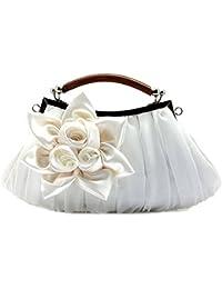 LATH.PIN® Abendtasche Partytasche mit Blumen Beuteltasche Handtasche Brauttasche Clutch