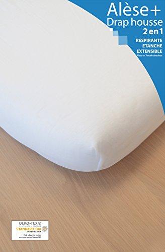Cubrecolchón sábana bajera 2en150x 83cm blanco