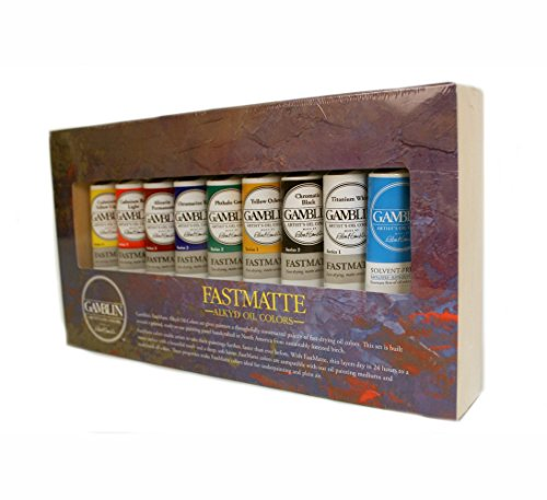 Cheapest Gamblin Fastmatte Alkyd Oil Colors Set Special