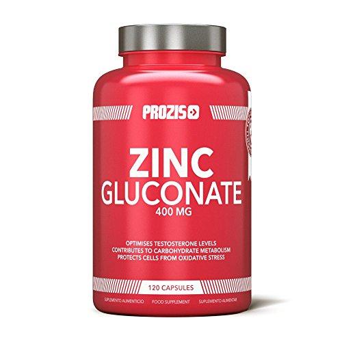 Prozis Zinc Gluconate 400mg 120 Pastiglie - Integratore per Supportare la Regolare Attività Cognitiva e Immunitaria - 120 Porzioni