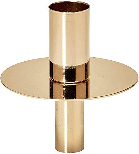 EDZARD Flaschenkerzenhalter, Kerzenständer, Flaschenaufsatz, goldfarben, Höhe 8 cm