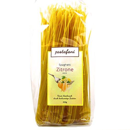 pastafani Zitrone Spaghetti 250g - Leckere Zitrone-Nudeln für Feinschmecker mit fruchtigem Geschmack. Zitrone-Pasta mit ausschließlich natürlichen, qualitativ hochwertigen Zutaten ohne Aroma- oder Zusatzstoffe, Teigwaren mit Ei, vegetarisch, Versandkostenfrei ab 15 Euro!