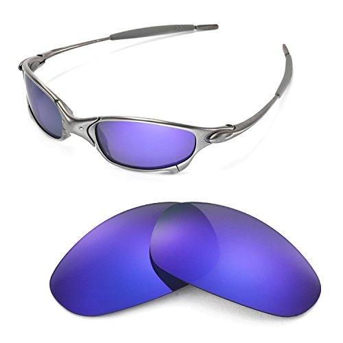 Walleva Ersatzgläser für Oakley Juliet Sonnenbrille - Mehrfache Optionen (Lila beschichtet - polarisiert)