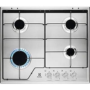 Electrolux KGS 6424 SX hobs Integrado Encimera de gas Acero inoxidable – Placa (Integrado, Encimera de gas, Acero…
