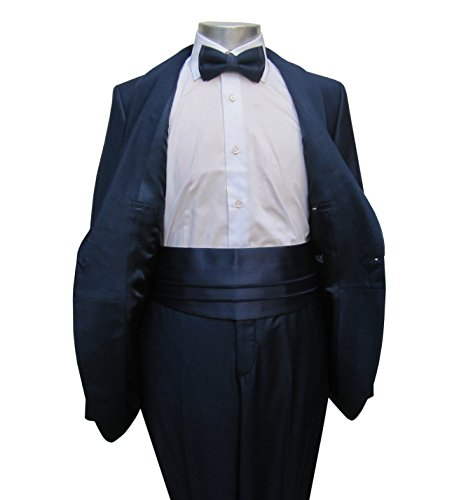 Hochzeitsanzug mit Schalkragen Slim-fit/Tailliert Muga Marine Blau