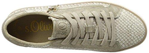 s.Oliver 23615, Sneakers Basses Femme Rose (Rose/Gold 593)