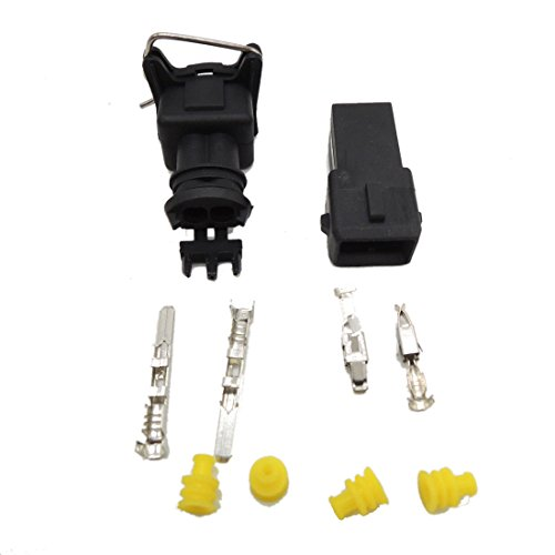 5 set EV1 Fuel Injector Plug Car Waterproof 2 Pin way Electrical Wire Connector Plug automobile Connectors Test