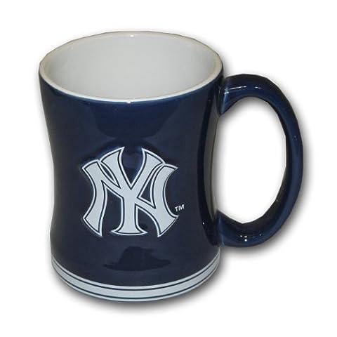 MLB New York Yankees Relief Sculpted Mug, 15-ounce