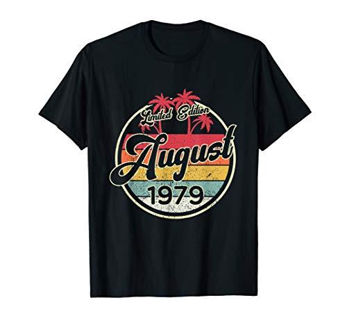 Vintage 80s August 1979 Shirt Fun 40. Geburtstags Geschenk T-Shirt