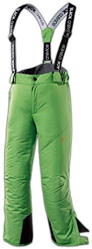Black Crevice Pantaloni da Sci da Bambino, Bambini, Skihose, Verde, 128
