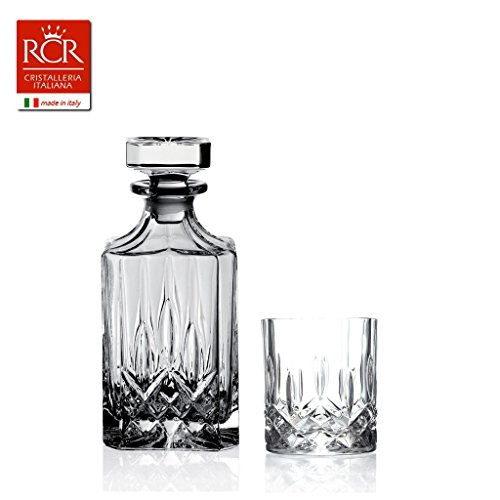 Rcr Opera Service für Whisky, Schallglas, Transparent, 7 Stück