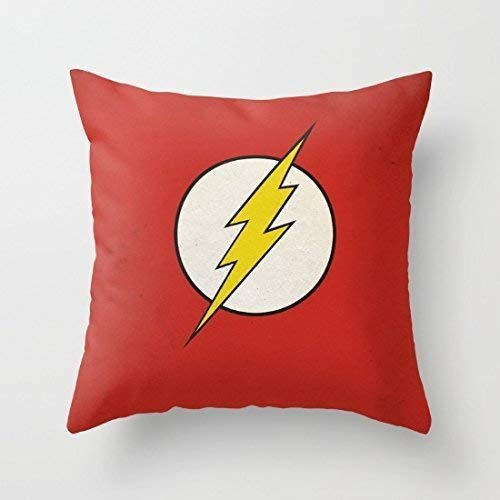 KENETOINA Flash Minimalist Red Funny Pillow Covers Decorative Accent Pillows Cover Case 18 x 18 for Sofa