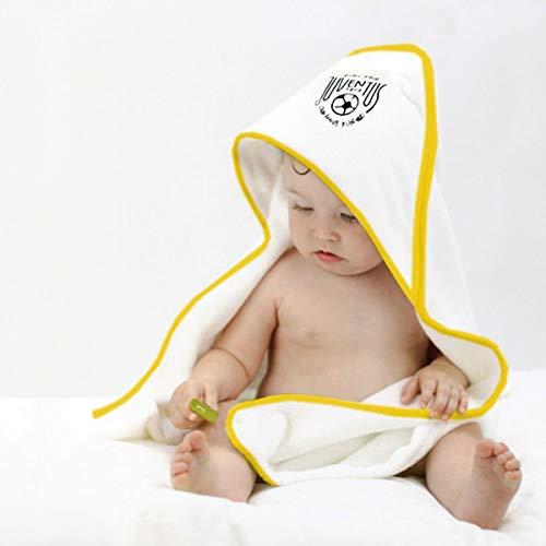 FC JUVENTUS Bademantel Triangolo Baby Neon-Bademantel mit Kapuze, Frottee, offizielle Baumwolle