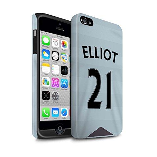 Offiziell Newcastle United FC Hülle / Matte Harten Stoßfest Case für Apple iPhone 4/4S / Pack 29pcs Muster / NUFC Trikot Away 15/16 Kollektion Elliot